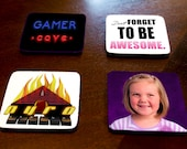 Your photo, saying, or image on a set of coasters. Set of 4 customized square coasters