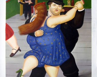 """20"""" by 24"""" - Reproduction of Famous Artists - Fernando Botero - Nr.103 - Museum Quality Oil Painting on Canvas Art"""