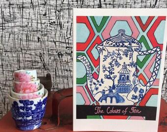 Greeting Card- Colours of Tea