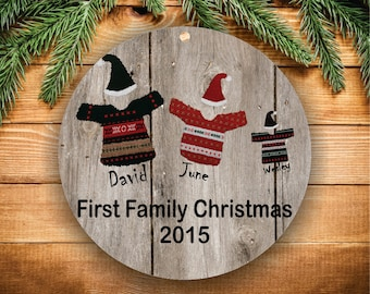 Our First Christmas as Mommy  Daddy New Parents Ornament