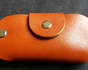 Leather key / car key holder with snap