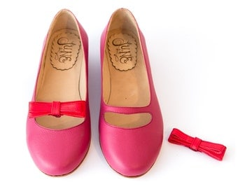 Katia Uva - Leather ballet flats in grape - Handmade by Quiero June - Free Shipping