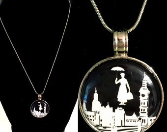 Mary Poppins Inspired Magnet Pendant Necklace