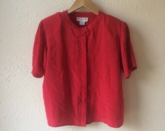 Petite 80s silk blouse (s)