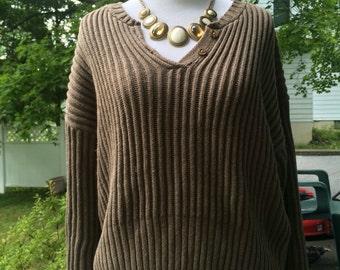 Cozy boxy v-neck sweater