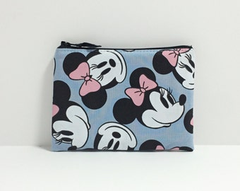 Small square Coin purse / pouch - Minnie mouse head toss