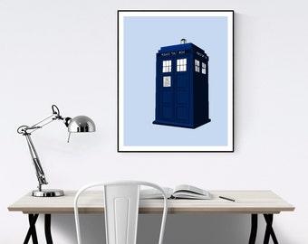 TARDIS Minimalist Poster