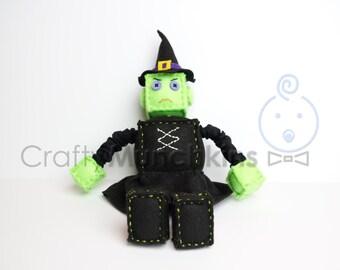 Little Witch Plush Felt Robot