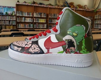 Custom Painted Zombie Simpsons Shoes