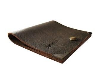 Marsabit - Dark Brown Leather Wallet -  Slim Wallet - Minimalist - Men's Wallet - Premium Dark Brown Leather - Polokov