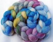 Romney Wool Roving - Handpainted Spinning Fiber -   5.3 oz.  Nr. 688