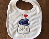 I Heart Police - Police Officer Badge Baby Bib