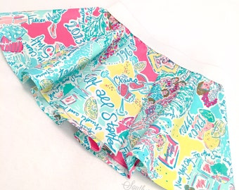 """Circle Skirt in Lilly Pulitzer Fabric """"In the Beginning"""""""