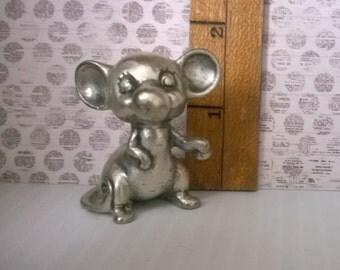 Pewter Peltro Italian Mouse Miniature - Topo Gigio