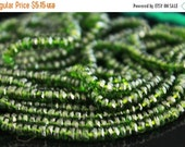 sale AAA green Chrome Diopside gemstone rondelles-faceted deep rich green chrome diopside big rondelles-3.6-5 mm-set of 6 Pcs No.668