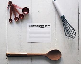 B*tchin' Kitchen Recipe Cards