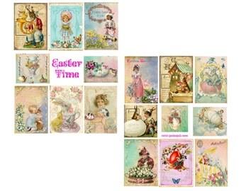 Easter Time Digital Collage Set