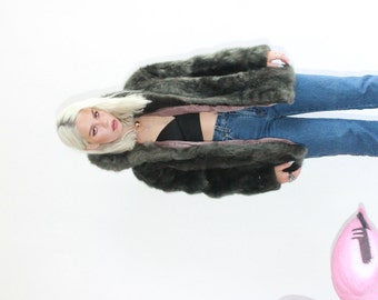 Vintage 50s Muted Green Fur Jacket
