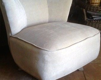 Vintage Swivel Slipper Chair