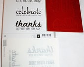 Fabulous Four Rubber Stamp Set Retired from Stampin Up