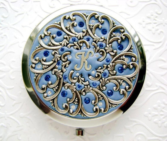 Something Blue Compact Mirror-Personalized Something Blue-Personalized Compact Mirror