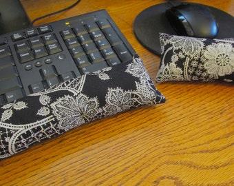 Black Keyboard Wrist Rest, Mouse Wrist Rest