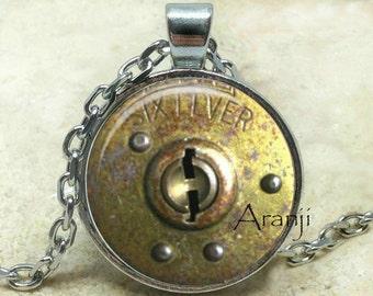 Vintage lock art pendant, lock necklace, lock jewelry, vintage lock necklace, old lock pendant, lock pendant, Pendant#HG121P