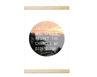 regret the chances art print