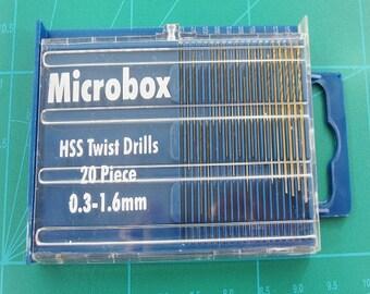 Micro HSS Twist Drill Bits Set 0.3mm up to 1.6mm 20 Piece Set