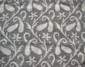 Handloom Woven Cotton Jacquard Semi Sheer Fabric by Yard