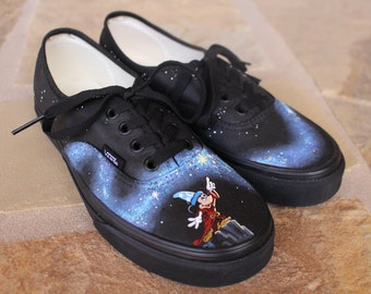 Hand Painted Shoes - Mickey Mouse Fantasia