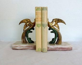 A 2 volume book bundle of Victor Hugo, vintage French novels published by Nelson, book bundle