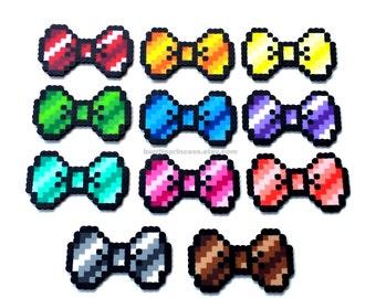 Ombre blue bow tie | Etsy - Pixel Art Papillon