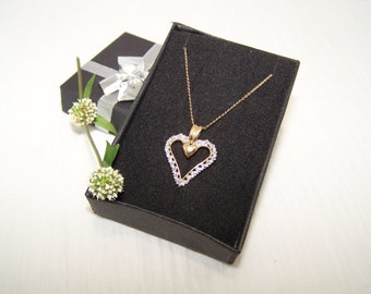 Delicate 10k Gold Heart Necklace