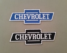 chevrolet bowtie embroidered patch  2 colors to choose
