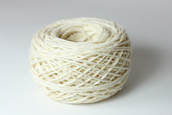Hemp Yarn - Fine Romanian Hemp Twine - 6-strand White