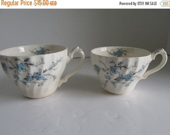 SALE His and Hers Antique Dainty Tea Cups  Pair of Teacups Antique Tea cups Art Nouveau Teacup Victorian Tea Party Decor