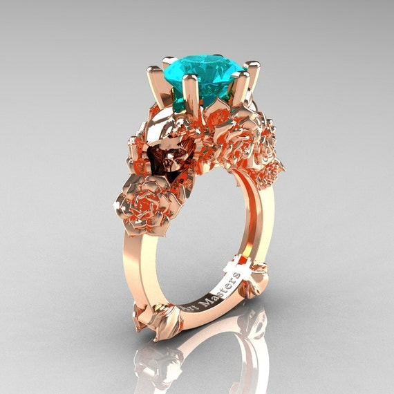Love And Sorrow 14k Rose Gold 3 0 Ct Paraiba Tourmaline Skull