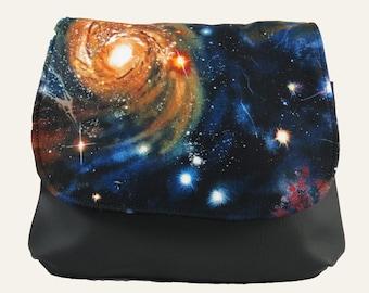 Galaxy Solar System Constellation KELSI II Cross Body Purse Mini Messenger