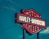 Harley Davidson sign Canvas arizona/Office Decor/California/large art/kids room art/boy girl room decor/motorcycle sign