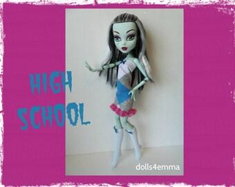"Monster High 17"" Doll Clothes - Dress and Socks - Handmade custom fashion by dolls4emma"