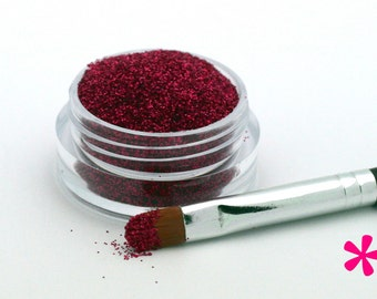 CHERRY RED Cosmetic Glitter for Makeup, Eye Shadow, Lips, Nail Polish, Body Shimmer & Hair Sparkle (C013)