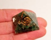 Orgone Green Aventurine Pyramid Attract Money, Love, Good Luck!