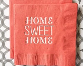 BN1228 - home sweet home beverage napkin, 40 ct