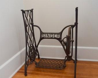 Singer Treadle, Cast Base, Table Base, Cast Iron Legs, Industrial Table