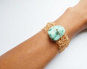 Crochet metal bracelet