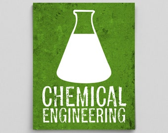 Chemical Engineering Engineer Print Science Gift for Chemie Home Decor Gift Gifts for Teachers Green Science Art Science Gifts for Her Him