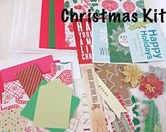 DIY Christmas Card Making Kit - Kid's Card Making Kit, Christmas Craft Kit, Children's Art Kit, Children's Art Project, DIY Card Making Kit