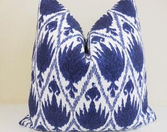 Lacefield Casablanca Indigo Blue and White Pillow Cover- Throw Pillow - Euro Sham _ Lumbar Pillow