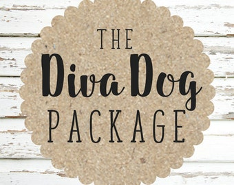 Diva Dog Package- includes collar, leash and flower attachment